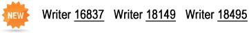Writer 16837, Writer 18149, Writer 18495